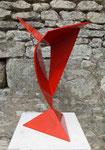 Offrande acier peint hauteur 54 cm