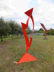L'Inconnue inox peint H 2,40 m