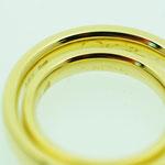 Trauringe 585 Gelbgold - Gravur in der Handschrift des Brautpaares
