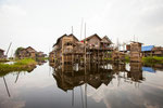 stilts houses, inle lake