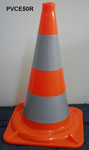 PVC Cone 50cm with two class II reflective tape