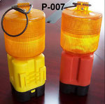 Barricade Lamp No.P007, single battery type, Yellow lens Flashing, Red lens Fixing, or OEM accepted.