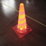Solar PVC Cone with LED inside