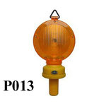 Barricade Lamp No.P013, Dcell battery type, Yellow lens Flashing,Red lens Fixing, or OEM accepted.