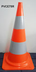 75cm PVC Cone with two class II reflective tape, 4.1kgs
