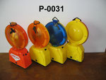 Xenon Barricade Lamp No.P0031, double battery type, Yellow/Red lens Flashing,or OEM accepted.
