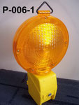Barricade Lamp No.P006, single battery type, Yellow lens Flashing, Red lens Fixing, or OEM accepted.