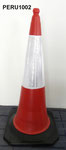 100cm PE Traffic cone with rubber base