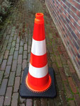 """PVCAL28R2 Interlock PVC Cone 28"""" covered with two Hign Intensity Prismatic reflective tape"""