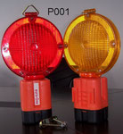 Barricade Lamp No.P001, single battery type, Yellow lens Flashing, Red lens Fixing, or OEM accepted.