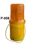 Barricade Lamp No.P008, single battery type, Yellow lens Flashing