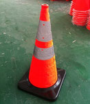 Collapsible Safety Cones with rubber base 28inch