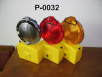 Xenon Barricade Lamp No.P0032, double battery type, Yellow/Red lens Flashing,or OEM accepted.