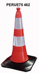 75cm PE Traffic cone with rubber base, two reflective band, 4.6kgs