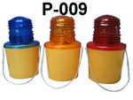Barricade Lamp No.P009, single battery type, Yellow lens Flashing, Red lens Fixing, or OEM accepted.