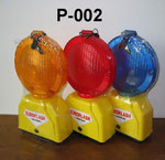 Barricade Lamp No.P002, double battery type, Yellow lens Flashing, Red lens Fixing, or OEM accepted.