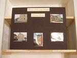 vitrines maison d'école natale de l'écrivain Catherine Paysan