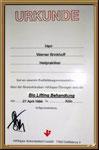 1994 Fortbildung:   Bio Lifting Behandlung