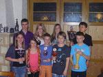 Die Gewinner der Jugend beim Königschießen 2013