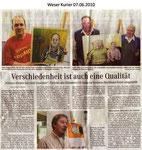 """Verschiedenheit ist auch eine Qualität """"Weser Kurier 07.06.2010"""""""