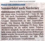 "Sommerfahrt nach Norderney ""Weser Kurier 14.05.2012"""