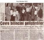 """Cevre bilincini gelistirdiler """"Post Oktober 2011"""""""