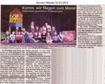 """Komm, wir fliegen zum Mond """"Bremer Westen 31.01.2013"""""""