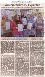 """Von Nachbarn zu Experten """"Bremer Anzeiger 19.12.2012"""""""