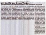 """Viel Geld für den Bremer Westen """"25.04.2013"""""""