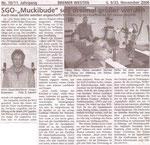 """SGO- """"Muckibude"""" soll dreimal größer werden """"Bremer Westen 23.11.2006"""""""