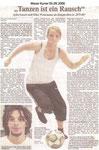 """""""Tanzen ist ein Rausch"""" """"Weser Kurier 05.09.2006"""""""