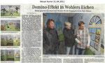 """Domino-Effekt in Wohlers Eichen """"Weser Kurier 21.04.2011"""""""