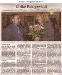 """Ulrike Pala gewählt """"Bremer Anzeiger 10.03.2013"""""""