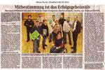 """Mitbestimmung ist das Erfolgsgeheimnis """"Weser Kurier 08.03.2012"""""""