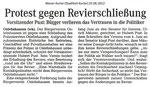 """Protest gegen Revierschließung """"Weser Kurier 25.06.2012"""""""