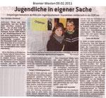 """Jugendliche in eigener Sache """"Bremer Westen 09.02.2011"""""""