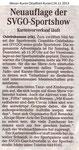 """""""Neuauflage Der SVGO-Sportshow"""" Weser-Kurier 24.11.2013"""