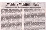 """""""Wohlers Wohlfühl-Platz"""" Weser Kurier 26.01.2012"""""""