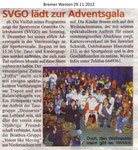 """SVGO lädt zur Adventsgala """"Bremer Westen 29.11.2012"""""""