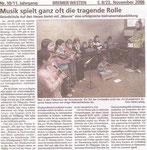 """Musik spielt ganz oft die tragende Rolle """"Bremer Westen 23.11.2006"""""""