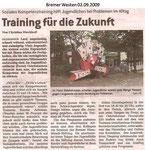 """Training für die Zukunft """"Bremer Westen 02.09.2009"""""""