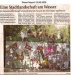 """Eine Stadtlandschaft am Wasser """"Weser Report 19.08.2009"""""""