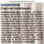 """""""Wohlers Eichen -Fotos von Oslebshausen-"""" Weser Kurier 21.11.2013"""