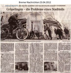 """Gröpelingen - die Probleme eines Stadtteils """"Bremer Nachrichten 23.04.2012"""""""