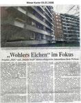 """""""Wohlers Eichen"""" im Fokus """"Weser Kurier 03.01.2008"""""""