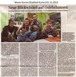 """""""Neue Blickwinkel auf Oslebshausen"""" Weser Kurier 01.12.2013"""