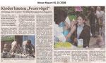 """Kinder bauten """"Feuervögel"""" """"Weser Report 05.10.2008"""""""