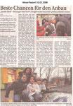 """Beste Chancen für den Anbau """"Weser Report 10.02.2008"""""""
