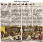 "Wieviel Revier ist sicher? ""Weser Report 18.11.2012"""