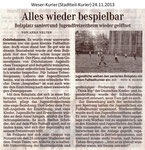 """""""Alles Wieder Bespielbar"""" Weser Kurier 24.11.2013"""
